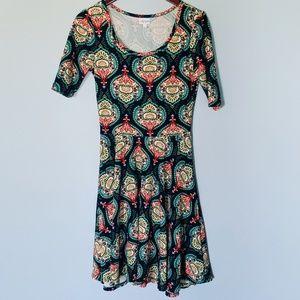 NEW Lularoe Navy Pattern Nicole Dress